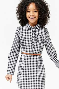 Forever 21 Girls Gingham Shirt Dress (Kids)