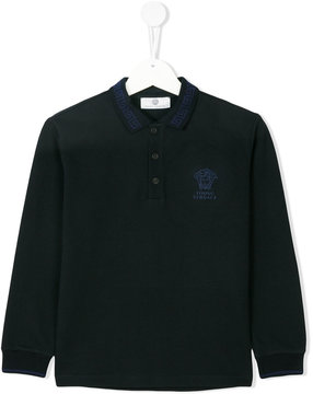 Versace long sleeves polo shirt