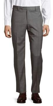 Zanella Parker Wool Plaid Pants