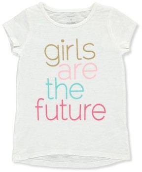 Carter's Little Girls' Top (Sizes 4 - 6X) - off white, 6x