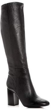 Kenneth Cole Women's Clarissa Leather High Block Heel Boots