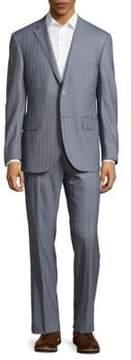 Corneliani Striped Virgin Wool Suit