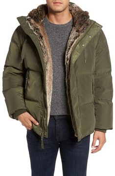 Andrew Marc Men's Athlone Faux Fur Down Jacket
