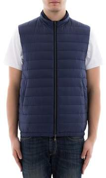 Herno Men's Blue/black Polyamide Vest.