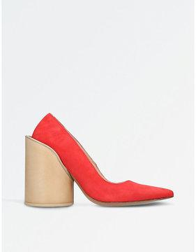 Jacquemus Saintes suede heeled pumps