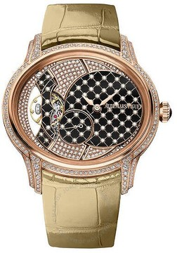 Audemars Piguet Millenary Black With White Pearls Dial Ladies 18 Carat Pink Gold Watch