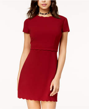 B. Darlin Juniors' Scalloped Sheath Dress