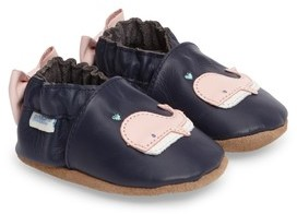 Robeez Infant Girl's Winnie The Whale Crib Shoe