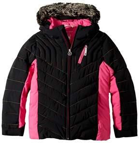 Spyder Hottie Faux Fur Jacket Girl's Coat