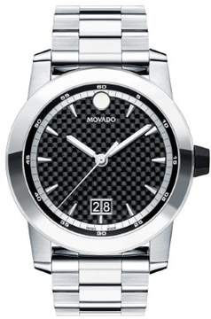 Movado Vizio Black Carbon Fiber Dial Men's Watch 0607050