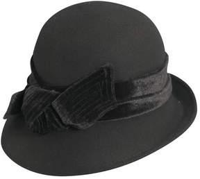 Scala Women's LF170 Cloche Bucket Hat with Velvet Bow