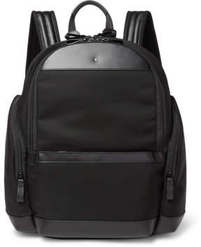 Montblanc Nightflight Leather-Trimmed Nylon Backpack