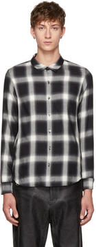 Attachment Black and White Plaid Shirt