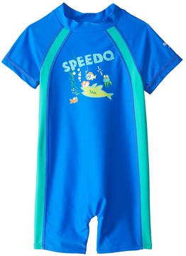 Speedo Boys' Short Sleeve Sun Suit UPF 50+ (12mos3T) - 8137137