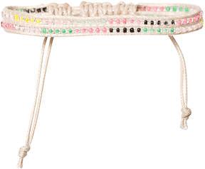 Molo Pale Pink Velvet Braided Bracelet