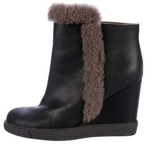 See by Chloe Wedge Ankle Boots