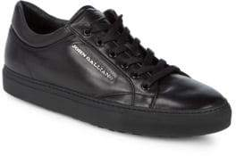 John Galliano Leather Low-Top Sneakers