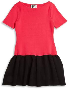 Milly Girl's Color Blocked Flounce Dress