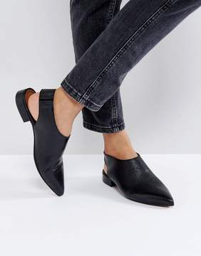 Asos MISCHIEF Leather Flat Shoes