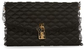 Dolce & Gabbana Quilted Clutch - Black - BLACK - STYLE