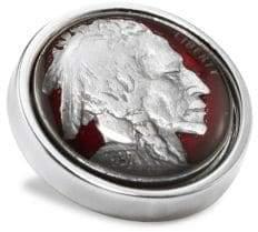 David Donahue Sterling Silver Nickel Lapel Pin