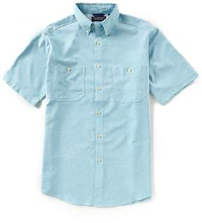 Roundtree & Yorke Performance Capeback Short-Sleeve Solid Heather Shirt