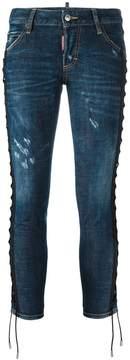 DSQUARED2 'Deana' lace effect jeans