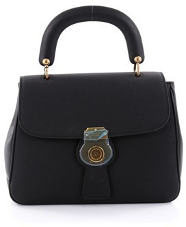 Burberry Pre-owned: Dk88 Top Handle Bag Leather Medium. - BLACK - STYLE