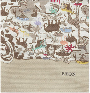 Eton Safari print silk pocket square