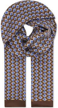 Eton Geometric diamond silk scarf