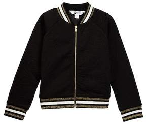 Petit Lem Knit Bomber Jacket (Toddler & Little Girls)