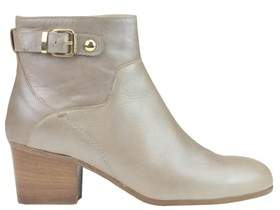 Manas Design Women's Grey Leather Ankle Boots.