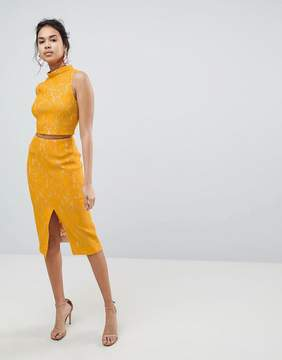 Keepsake Every Way Lace Midi Skirt