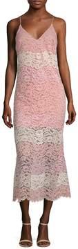 ABS by Allen Schwartz Women's Lace Midi Dress