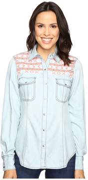 Rock and Roll Cowgirl Long Sleeve Snap B4S7301