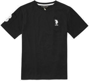 U.S. Polo Assn. USPA Short Sleeve V Neck T-Shirt-Big Kid Boys