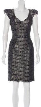 Andrew Gn Metallic Sheath Dress