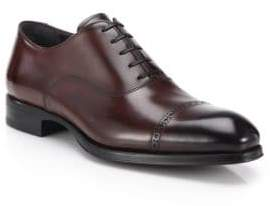 To Boot Derek Burnished Leather Captoe Oxfords