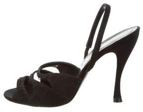 Rochas Satin Slingback Sandals