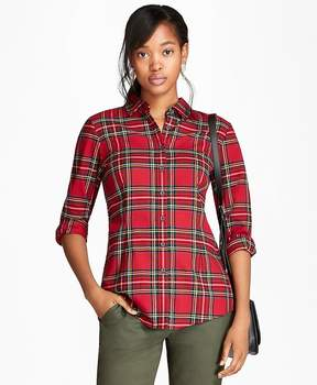Brooks Brothers Cotton Tartan Flannel Shirt