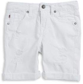 Vigoss Cotton-Blend Distressed Shorts