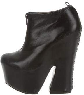 Jeffrey Campbell Leather Platform Ankle Boots