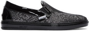 Jimmy Choo Silver Snake Lamé Slip-On Sneakers