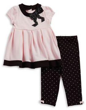 Little Me Baby Girls Two-Piece Pleated Dress & Leggings