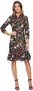 Adrianna Papell Bloom Printed Shirtdress Women's Dress