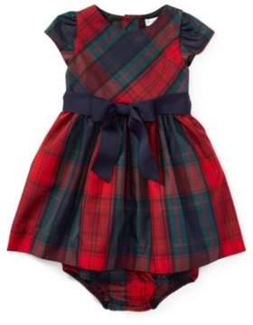 Ralph Lauren Tartan Taffeta Dress & Bloomer Holiday Tartan 24M