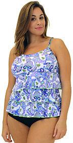 Fit 4 U Tummy Dolce Three-Tiered Scoopneck Top