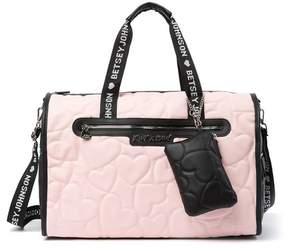 Betsey Johnson Barrel Weekend Bag