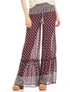 Chelsea & Violet Printed Flare Palazzo Pant