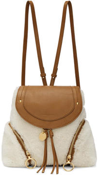 See by Chloe Tan Shearling Olga Backpack